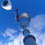 ObellX-plus installation on the tower Fernie Alpine Resort BC